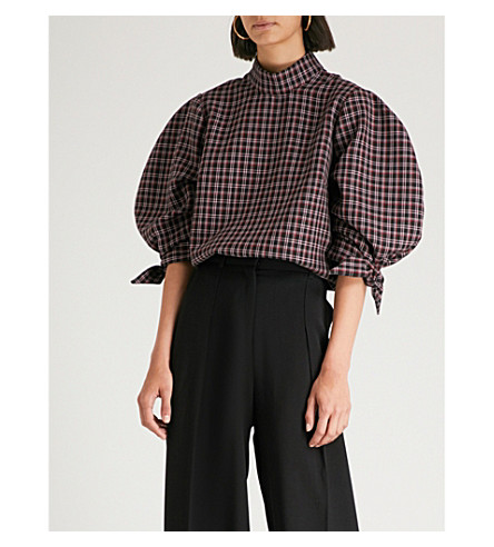 PAPER LONDON Rose twill top (Tartan