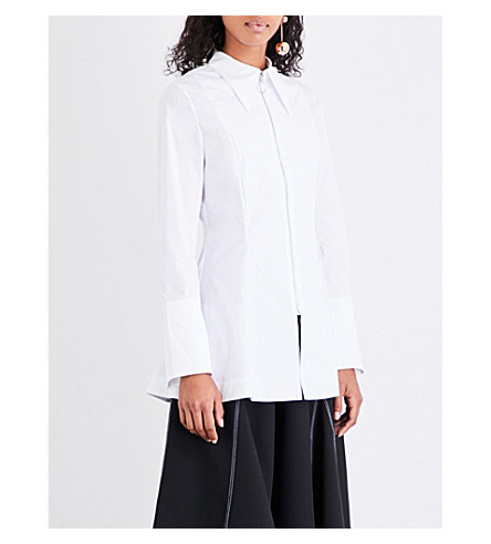 PAPER LONDON Soleil stretch-cotton shirt (White
