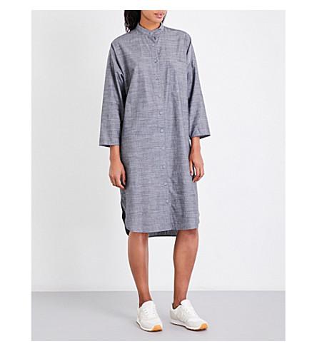 STUDY NY 1.6 hemp and organic cotton-blend shirt dress (Charcoal