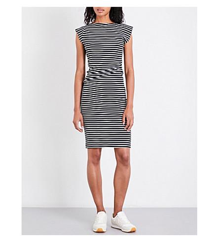 STUDY NY Twist soybean and organic cotton-blend dress (Dark+navy+str
