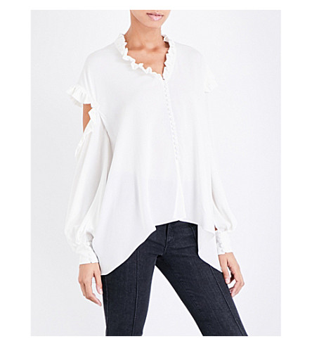 MAGDA BUTRYM Forli silk-crepe shirt (Cream