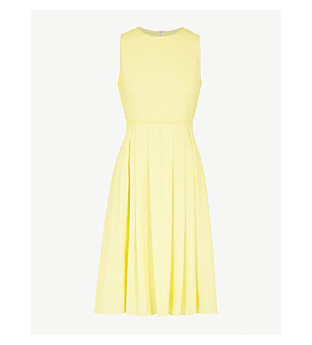 CEFINN Sleeveless dress with pleated skirt (Yellow