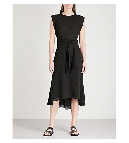 CEFINN Self-tie woven dress (Black