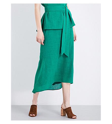 CEFINN Fish tail viole maxi skirt (Emerald