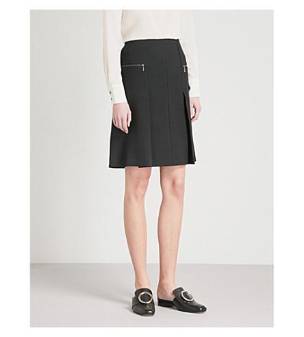 CEFINN Pleated A-line skirt (Black