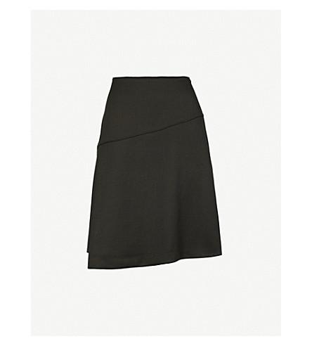 CEFINN Folded-panel high-rise woven-twill skirt (Dark+khaki