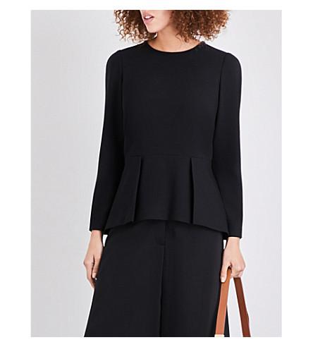 CEFINN Long sleeve peplum top (Black