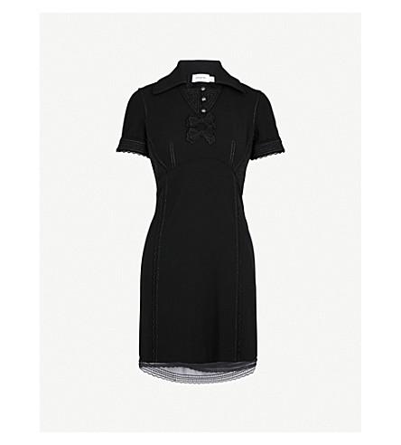 COACH Metallic-embroidered woven dress (Black