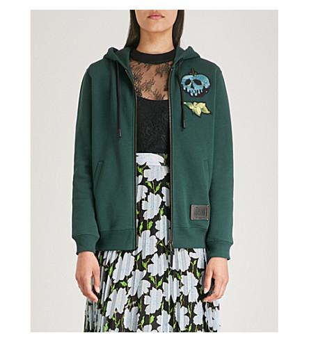 COACH Dark Disney Sneezy cotton-jersey hoody (Pine+grove