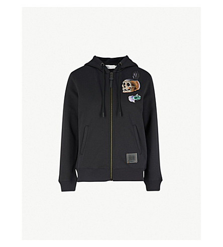 COACH Dark Disney Happy cotton-jersey hoody (Dark+shadow
