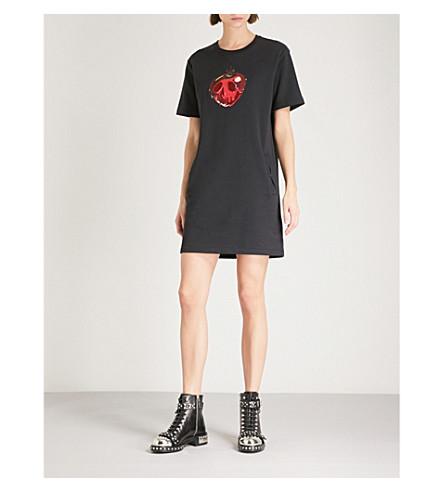 Poison algodón y camiseta de Disney camiseta de Vestido COACH Apple negro Dark qzxBwB
