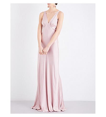 GHOST Pearl satin dress (Boudoir+pink