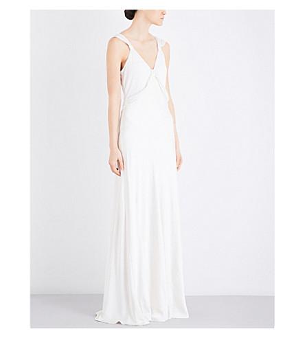 GHOST Sana satin dress (Ivory