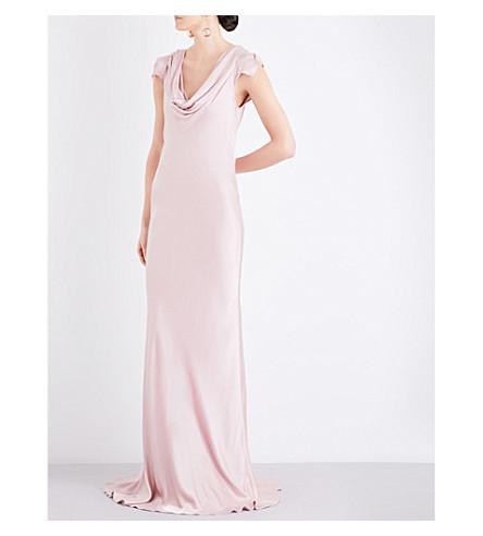 GHOST Sylvia satin dress (Boudoir+pink