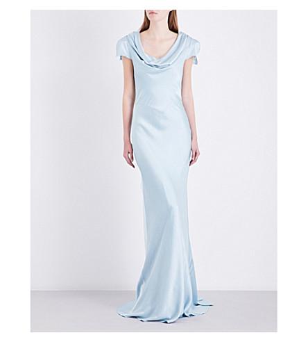 GHOST Sylvia satin dress (Sky+light