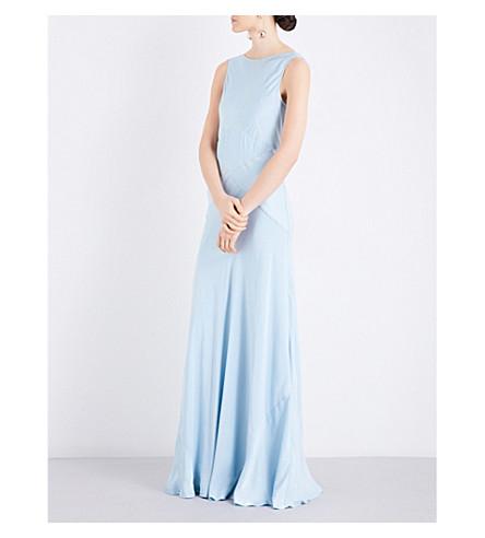 GHOST Taylor satin dress (Sky+light
