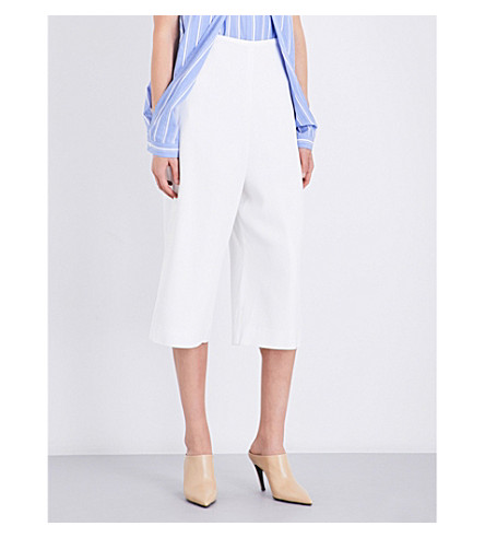 DION LEE Cropped crepe trousers (Ivory