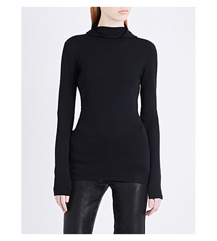 DION LEE Pinacle Balaclava knitted jumper (Black