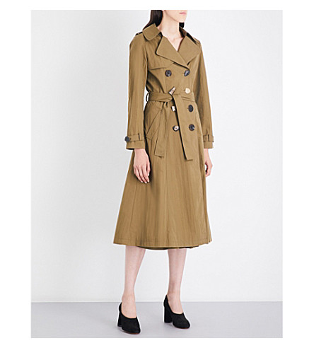 REJINA PYO Kirsten cotton-blend trench coat (Khaki+cotton