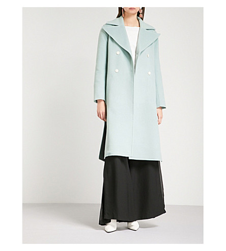 REJINA PYO Simone double-breasted wool-blend coat (Wool+mint