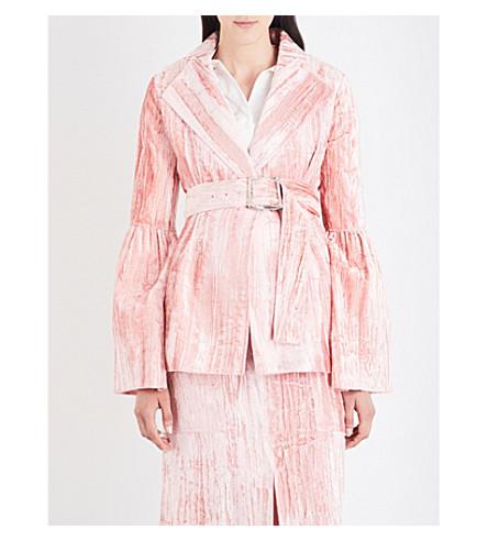REJINA PYO Claire crushed-velvet blazer (Pink+bonded