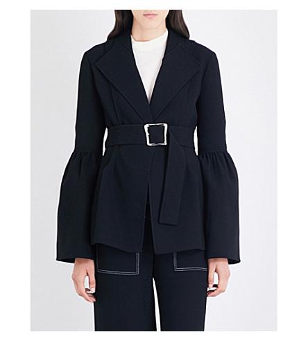 REJINA PYO Claire seersucker-crepe blazer (Black+bonded