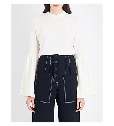 REJINA PYO Marta crepe blouse (Ivory+crepe