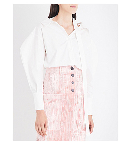 REJINA PYO Rosa cotton-poplin shirt (Off+white+cotton