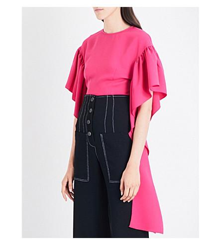 REJINA PYO Kara crepe blouse (Magenta+crepe