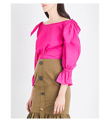 REJINA PYO Michelle shell blouse (Magenta+light+tech