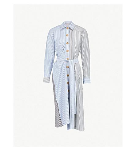 REJINA PYO Madison striped cotton shirt dress (Stripe+mix