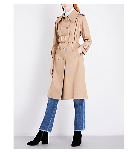 ALEXACHUNG Oversized cotton-twill trench coat (Camel