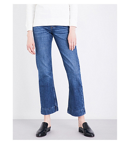 ALEXACHUNG High-rise kick-flare jeans (Mid+vintage+wash