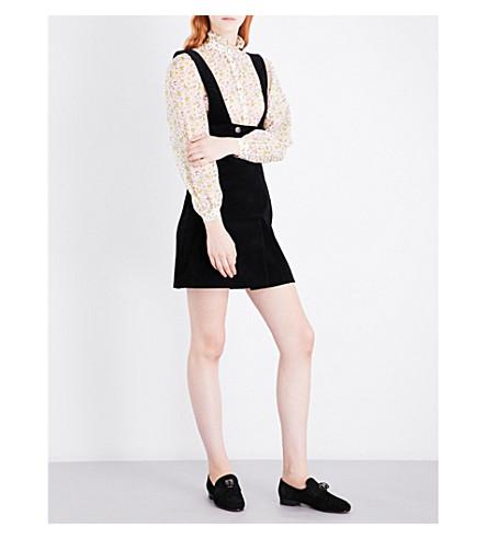 ALEXACHUNG Pinafore corduroy dress (Black
