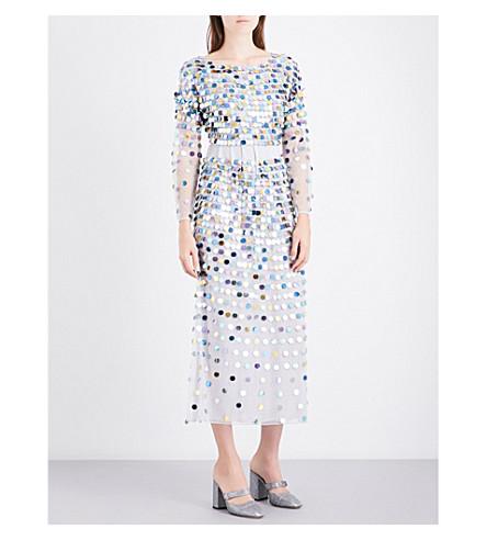 ALEXACHUNG Sequinned maxi dress (Multi