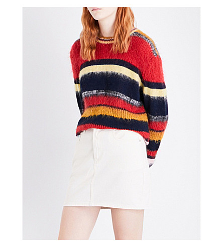 ALEXACHUNG Striped mohair jumper (Multi