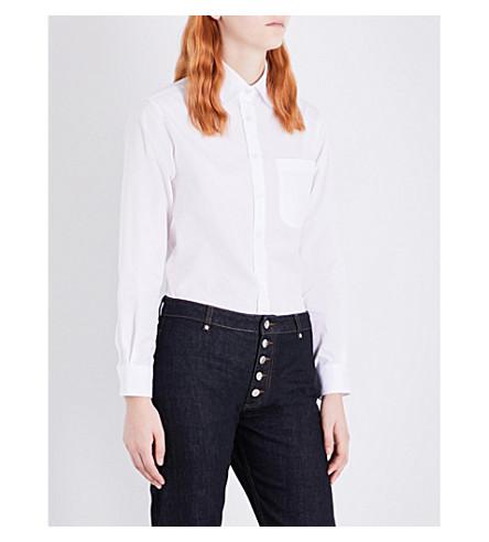 ALEXACHUNG Classic cotton-poplin shirt (White