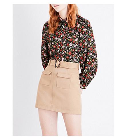ALEXACHUNG Floral-print crepe blouse (Floral+multi