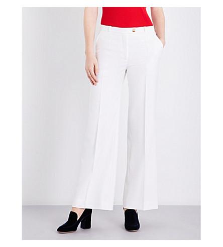 ALEXACHUNG Wide-leg wool trousers (Ivory