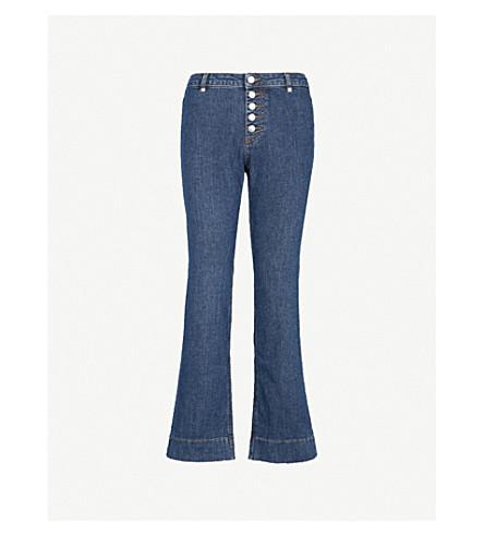 ALEXACHUNG Kick-flare straight high-rise jeans (Chalotte+wash