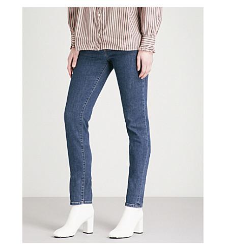 ALEXACHUNG Flared slim-fit high-rise jeans (Charlotte+wash