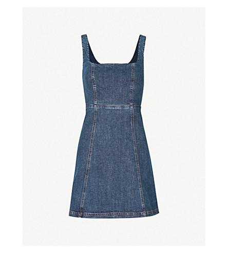 ALEXACHUNG Cutout back denim mini dress (Charlotte+wash