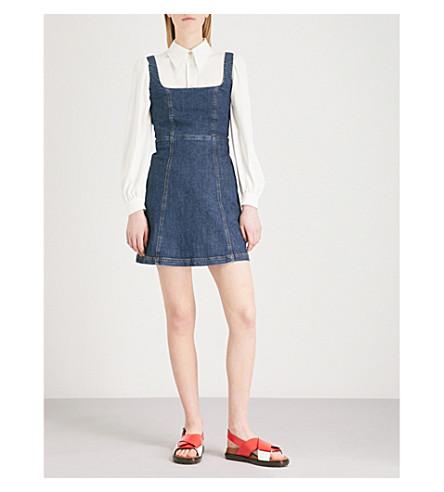 ALEXACHUNG Cutout back denim mini dress (Charlotte wash