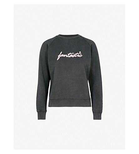 ALEXACHUNG Fantastic cotton sweatshirt (Washed+black