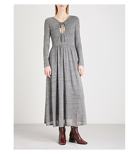 ALEXACHUNG Keyhole knitted dress (Antique+silver