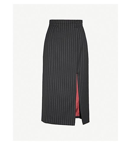 ALEXACHUNG Pinstripe wool-blend skirt (Pinstripe wool