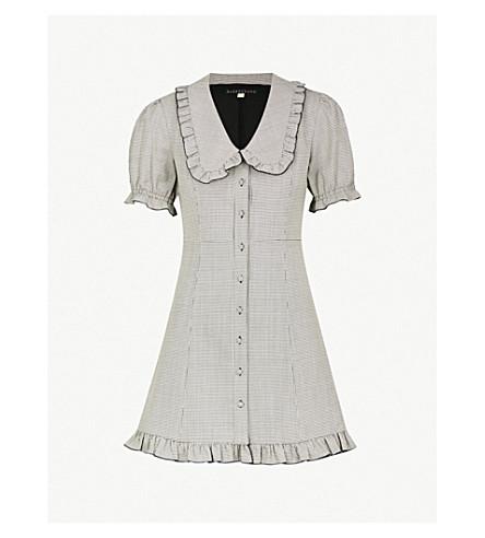 ALEXACHUNG Babydoll wool-blend mini dress (Black white