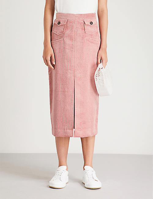 ALEXACHUNG Pocket-detail corduroy pencil skirt c9b40106c95