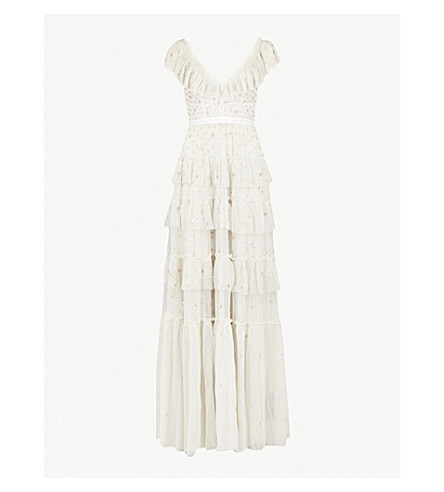 NEEDLE AND THREAD Sunburst embellished tulle gown (Bbl