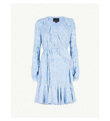 NEEDLE AND THREAD Anglais Georgette embroidered woven dress (Azure